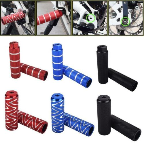 1 pair Mountain Bike Bicycle Axle Pedal Alloy Foot Stunt Pegs Cylinder q