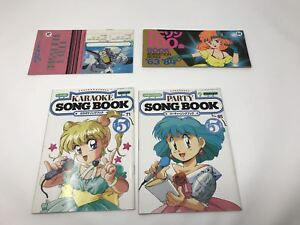 Details About Lot Of 4 Anime Sing Song Book New Animation Music Journal 1985 Sheet Music