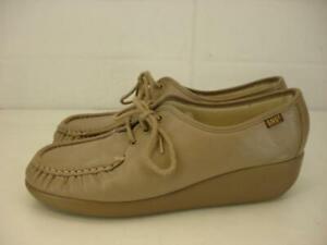 10768329a7 Womens 9.5 M SAS Bounce Mocha Tan Leather Comfort Shoes Oxfords Lace ...
