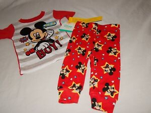 NEW Minnie Mouse Disney Figure Pajamas Outfit Baby Sleep Shirt Girls 12-24 Month