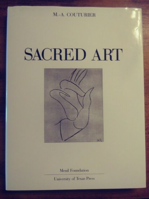 SACRED ART by M. A. Couturier (1989 Univ of Texas, Hardcover, dust jacket)