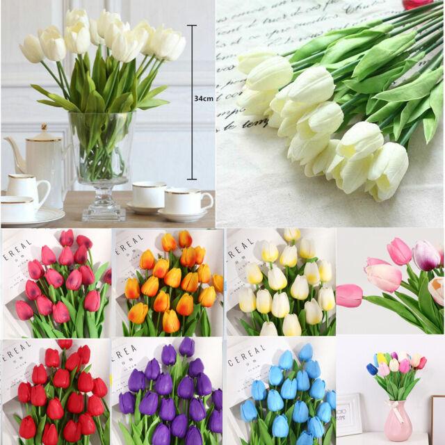 10pcs Bridesmaid Bouquet Artifical Rose Silk Fake Flower Wedding Party Decor For Sale Online Ebay