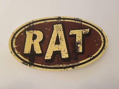 Brillant #387 Aged Rat Beige Braun Schild 9,7x5,7 C Aufkleber Autocollant Sticker