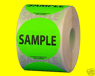 LOT 100 YELLOW FREE SAMPLE Stickers Label for  Purchase SHIPPING 2X1