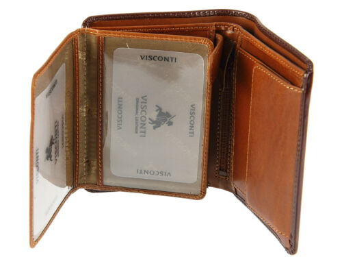 Banknotes /& Coins Visconti Mens Gift Boxed Real Leather Wallet For Cards TR34