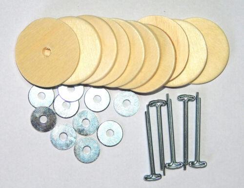 Gelenksatz für Teddy mit Holzscheiben 40 mm Teddybär Gelenke baerenmachen