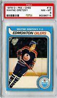 1979 O-Pee-Chee #18 Wayne Gretzky Rookie Edmonton Oilers PSA NM-MT 8+++ Centered