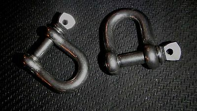 """4PC STAINLESS STEEL D SHACKLE 5//16/"""" RIGGING MARINE GRADE HDDS8"""