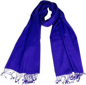 Sciarpa sciarpa cashmere Royal seta 30 Pashmina a cm 70x198 intrecciato mano Blue 70 nUpFZnW