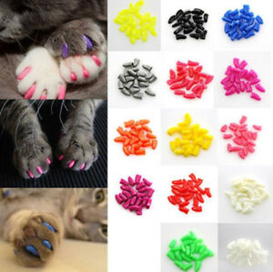 Image Is Loading 20pcs Set Pet Dog Cat Nail Caps Soft