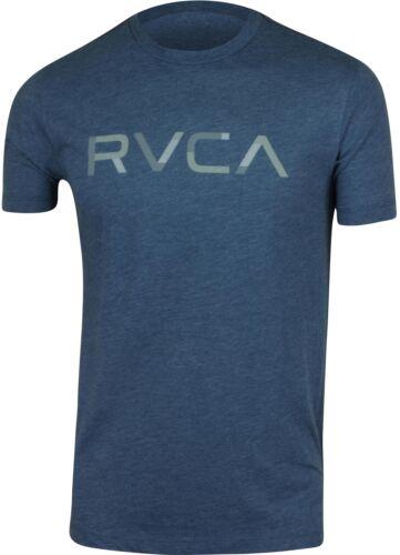 Midnight Blue//Gray RVCA Mens Blocked RVCA Mens T-Shirt