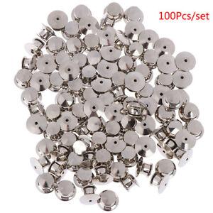 100Pcs-set-LOW-PROFILE-Locking-Pin-Backs-Keepers-for-all-Pin-Post-PinsXIJYL-Y