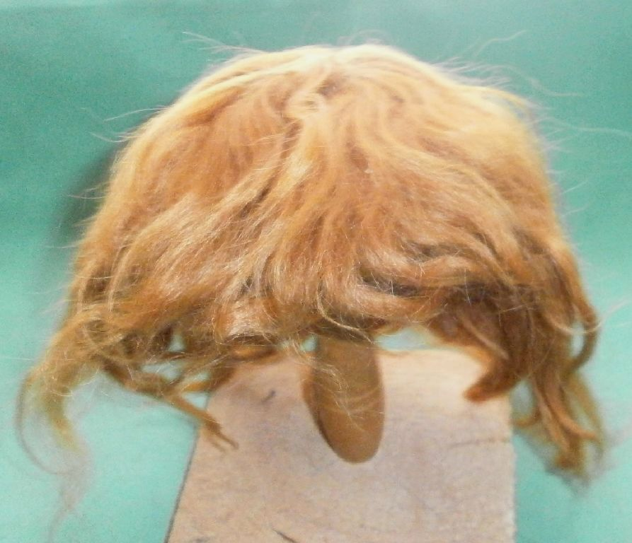 Doll wig mohair strawberry blond, short hair/ 11