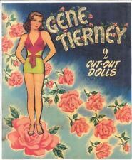VINTGE UNCUT 1947 GENE TIERNEY PAPER DOLL HD Digital REPRODUCTION~LO~PRICE~HI QU