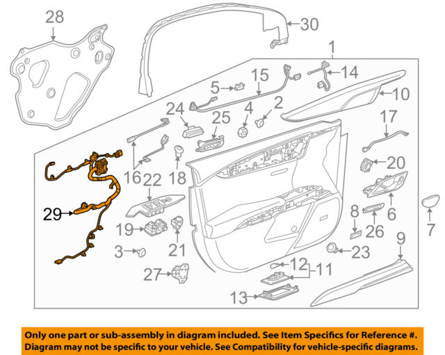 GM Oem 22939740 Electrical Connector Body Wiring Ebay. Cadillac GM Oem 1317 Xts Front Doorwire Harness Left 22939740. Wiring. Xts Wiring Harness At Scoala.co