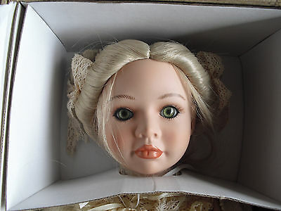 "By Brand, Company, Character Dolls Audacious Porcelain Bisque Nurenberger Puppenstube Blonde Girl Doll With Bear In Box 21"" Special Summer Sale"