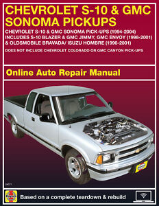 2003 chevrolet s10 haynes online repair manual select access ebay rh ebay com 91 chevy s10 owners manual 91 Chevy S10 Wiring Diagram
