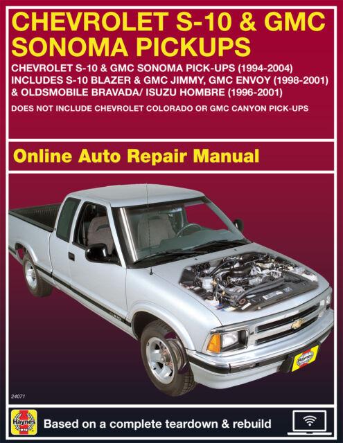 haynes chevrolet s 10 gmc s 15 pick ups 1982 1992 repair manual rh ebay com 2003 GMC Sonoma Extended Cab 2000 gmc sonoma repair manual
