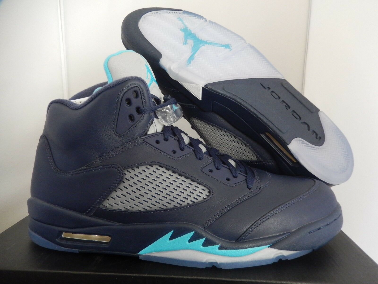 newest 73195 dc2f4 NIKE NIKE NIKE AIR JORDAN 5 RETRO MIDNIGHT NAVY blueE-WHITE SZ 14  136027