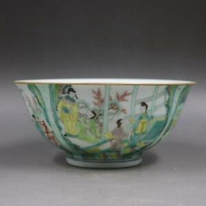 Chinese-Old-Marked-Wucai-Colored-Gilt-Character-Story-Pattern-Porcelain-Bowl