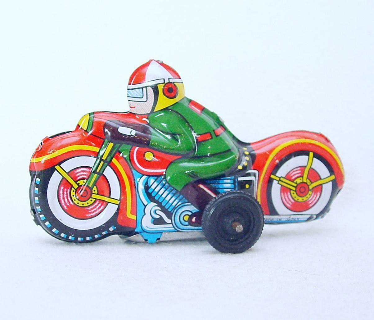 Moderne spielzeug - motorrad 9cm japan roten zinn reibung spielzeug gut ` 68 top selten