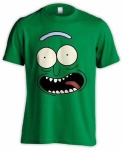 Pickle-Rick-visage-de-Rick-and-Morty-Funny-Adult-Swim-schwifty-tshirt-vert-tee