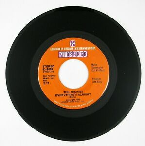 ARCHIES-Everything-039-s-Alright-together-We-Two-7IN-1970-POP-ROCK-NM
