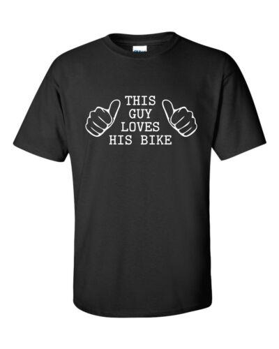 THIS GUY LOVES HIS BIKE funny mens t shirt christmas  gift husband boyfriend BF