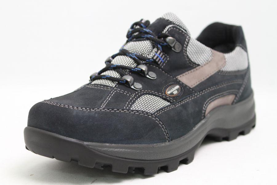 Waldläufer Outdoor Schuhe Tex-Membrane blau echt Nubuk Leder Tex-Membrane Schuhe Schuhweite H e55125