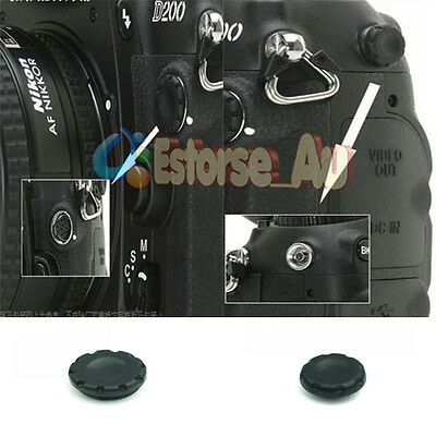 10-Pin Remote + Flash PC Sync Terminal Cap Cover For Nikon D200 D1X D2X S3 S5