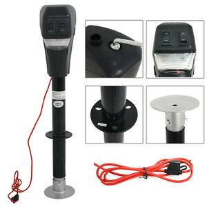 Electric LED Power Lift Tongue Jack 12V 3500lbs Camper RV Trailer Level