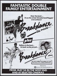 BREAKDANCE_/_BREAKIN'__Orig. 1985 Trade AD / poster__Electric Boogalo_Shabba Doo