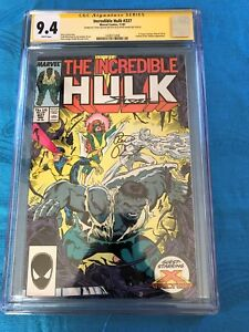 Incredible-Hulk-337-Marvel-CGC-SS-9-4-NM-Signed-by-Peter-David-Geiger