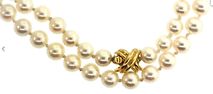 Tiffany-amp-Co-18K-Gold-Akoya-Pearl-Strand-Signature-X-18-034-Necklace-w-Suede-Case