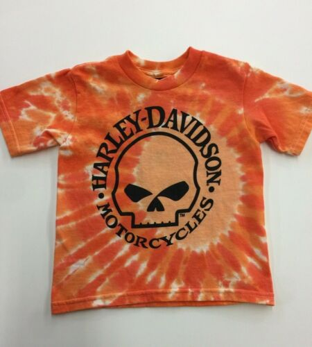 Harley-Davidson Toddler Boy/'s Willie G Skull Swirl Tie-Dye T-Shirt