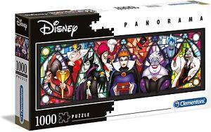 Clementoni Disney Villains 1000 Piece Jigsaw Puzzle Panorama High Quality 39516