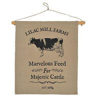 Printed Cloth Wall Hanging - Marvelous Feed For Majestic Cattle - Cow Farmhouse