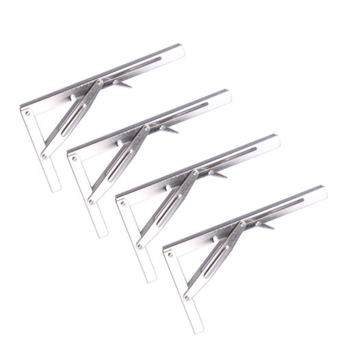 "4PCS Heavy Duty Folding Bench Shelf Table Bracket Short Release 12/"" Length"