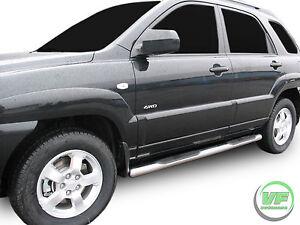 Hyundai Tucson 2004 2010 Side Bars Chrome Stainless Steel