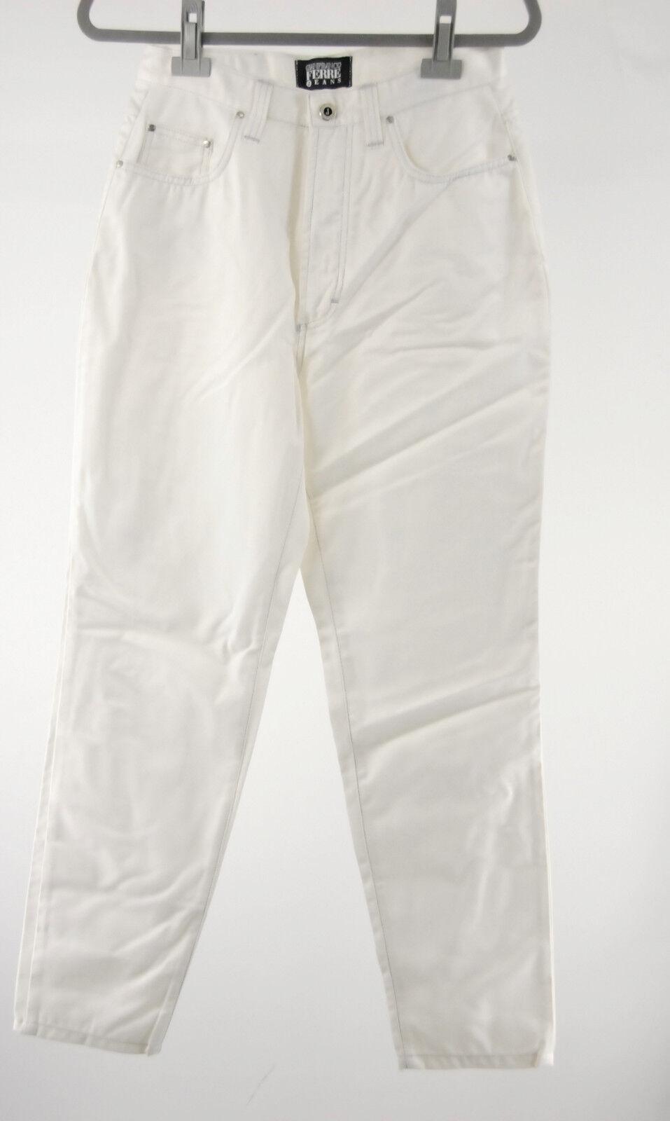 Gianfranco Ferre Jeans weiß 36 - 38 (D) 33 silbernaht  neu Ferré ITJ