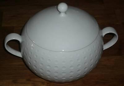 Zierdose Dose Golfball aus Porzellan weiß