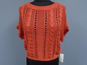 dolman style orange chunky tricot brûlé style orange en doré orange Pull Rw0U5qI