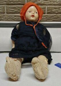 1950'S Antique Vintage Celluloid German Doll W/ Cloth Body Original
