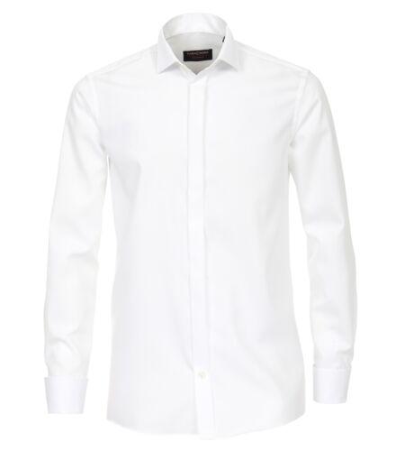 Casa Moda-Comfort fit-Calzini business-Camicia in Bianco e Crema (005350)