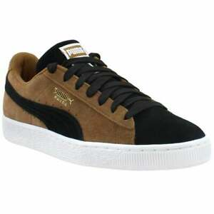 Puma-Suede-Classic-Lace-Up-Mens-Sneakers-Shoes-Casual-Brown-Size-8-5-D