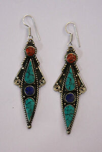ethnic-handmade-classic-hook-sterling-silver-earrings-tops-turquoise-ER6