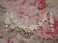 Shabby & Chic Ribbon Roses Swag & Drops Furniture Appliques