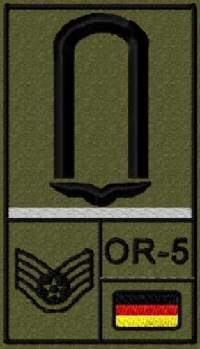 Soldat Bundeswehr Rangabzeichen Klett alle Dienstgrade Luftwaffe Reservisten