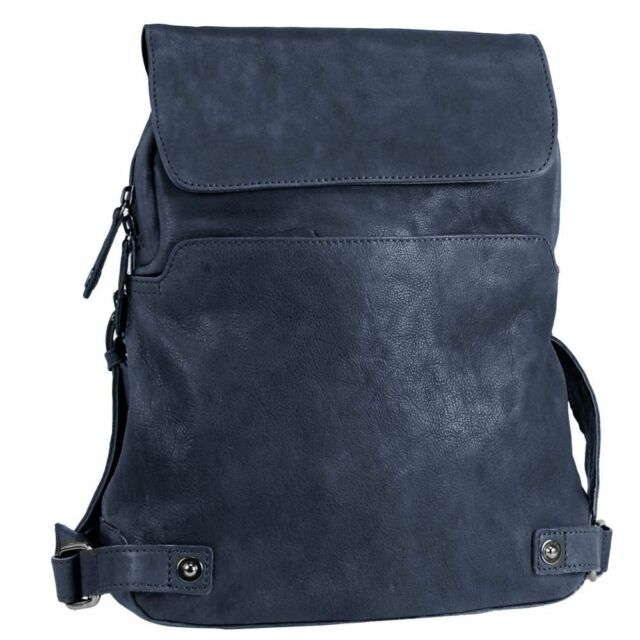 Harold's Pull Up backpack leather 38cm (midnight blue)