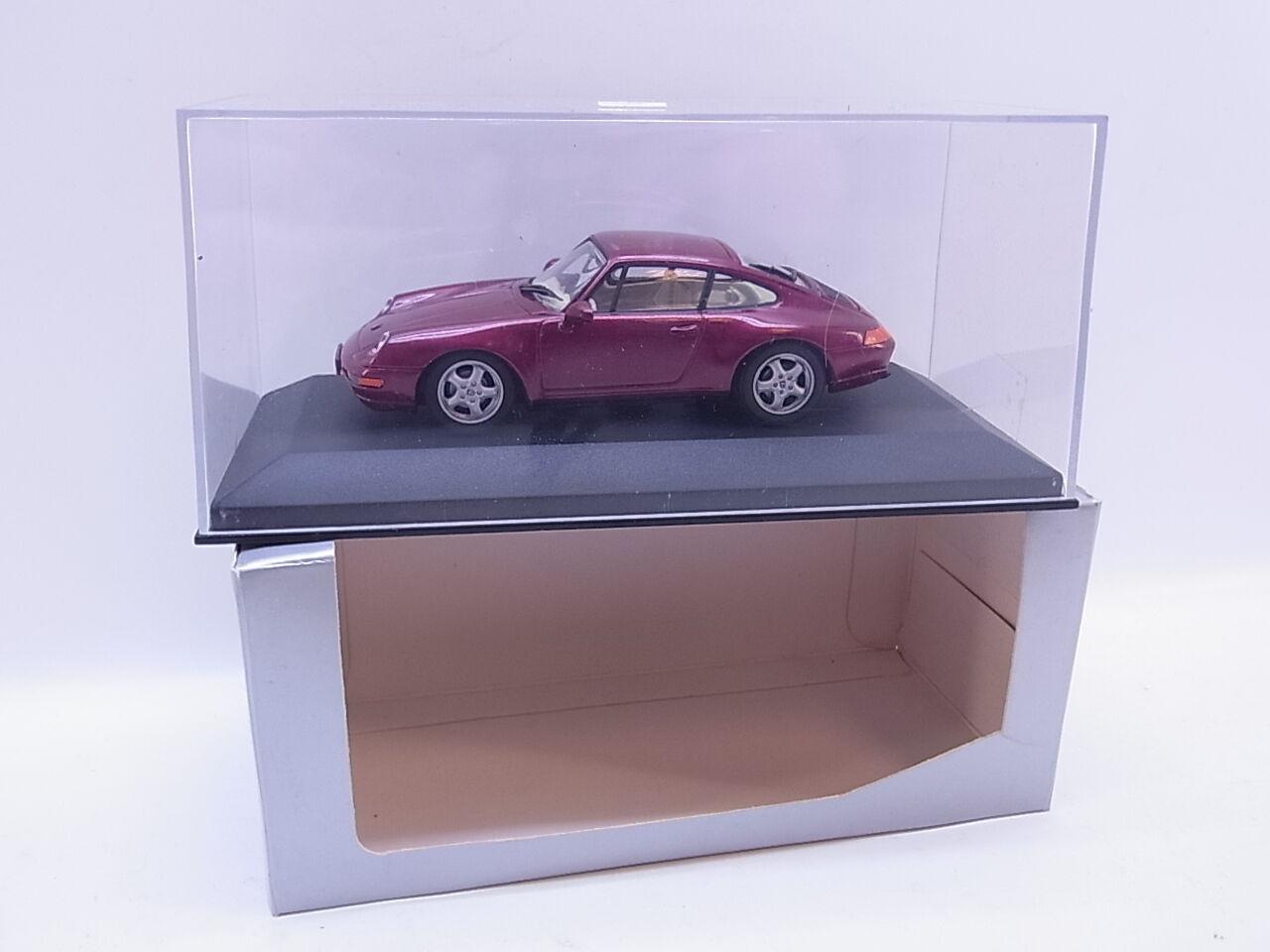 Lot 40695   Minichamps Porsche 911 Coupé 993 Rouge Métallisé Voiture Miniature 1 43 dans neuf dans sa boîte